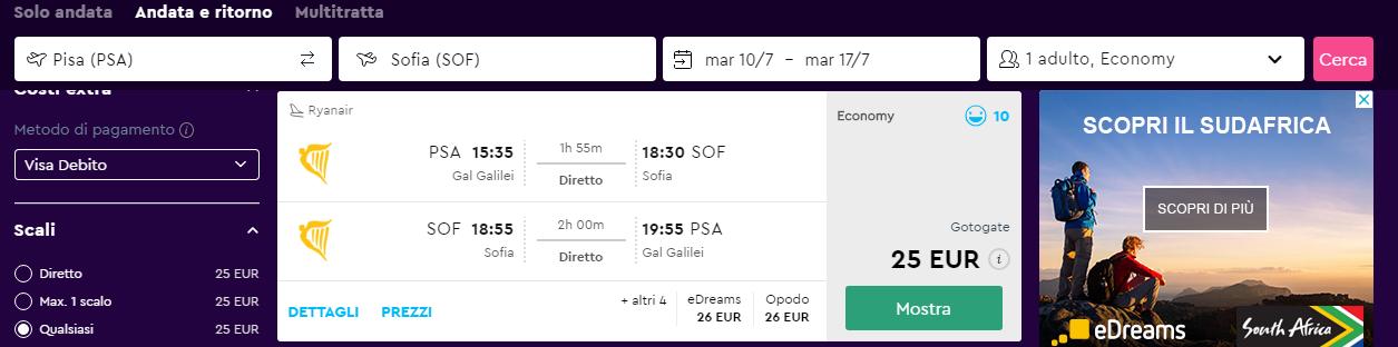 Voli Estivi Low Cost Da Pisa A Sofia Bulgaria A Soli 25 A R