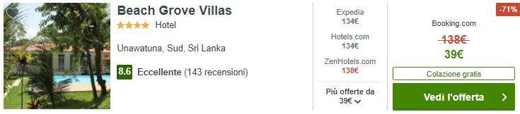 offerta per lo Sri Lanka